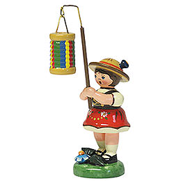 Lampion Girl with Strips Lantern - 8 cm / 3 inch
