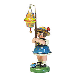 Lampion Girl with a Conical Lampion - 8 cm / 3 inch