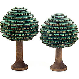 Layered Trees - Leaf Trees Green - 2 pieces - 10 cm / 3.9 inch
