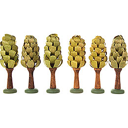Leaf Trees - 6 pieces - 9 cm / 3.5 inch
