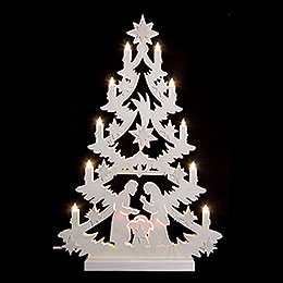 Light Triangle - Christmas Tree - 60x40x5,5 cm / 23,6x15,6x2 inch