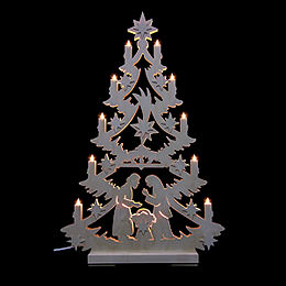 Light Triangle - Christmas Tree - 70x46x5,5 cm / 27x18x2 inch