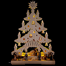 Light Triangle - Fir Tree - Nativity - 32x44 cm / 12.6x17.3 inch