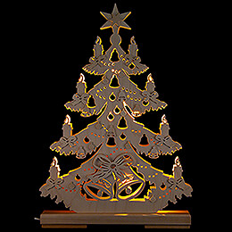 Light Triangle - Fir Tree with Ribbons - 32x44 cm / 12.6x17.3 inch