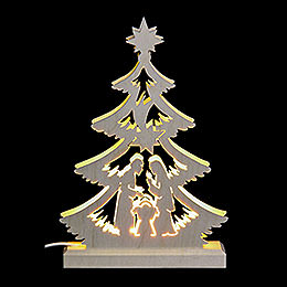 Light Triangle - Nativity Scene - LED - 23.5x15.5x4.5 cm / 9.06x5.91x1.57 inch