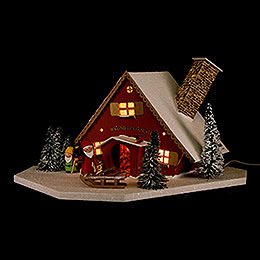 Lighted House Dwarves' Workshop - 19 cm / 7.5 inch