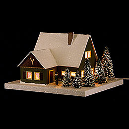 Lighted House Forester's Lodge - 11,5 cm / 4.5 inch