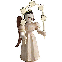 Long Pleated Skirt Angel with Star Arch, Natural - 6,6 cm / 2.6 inch