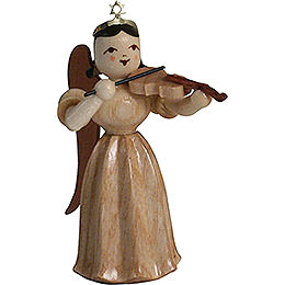Long Pleated Skirt Angel with Violin, Natural - 6,6 cm / 2.6 inch