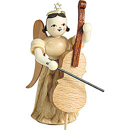 Long Pleated Skirt Angel with Violoncello, Natural - 6,6 cm / 2.6 inch