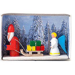 Matchbox - Santa Claus with Angel - 4 cm / 1.6 inch