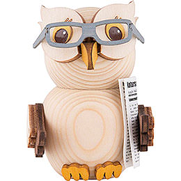 Mini Owl with Glasses - 7 cm / 2.8 inch