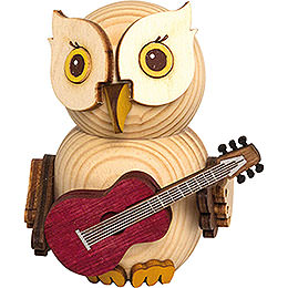 Mini Owl with Guitar - 7 cm / 2.8 inch