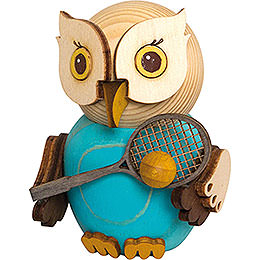 Mini Owl with Tennis Racket - 7 cm / 2.8 inch