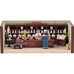 Miniature Room - Pharmacy with Pharmacist - 4 cm / 1.6 inch