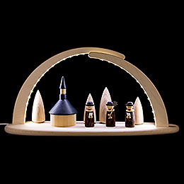 Modern Light Arch - LED Illuminated - Seiffener Church - 42x21x13 cm / 16x8x5 inch