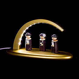 Modern Light Arch with LED - Carolers - gold - 24x13 cm / 9.4x5.1 inch