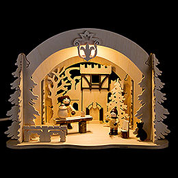 Motive Light - Diorama Castle Christmas - 19 cm / 7.5 inch