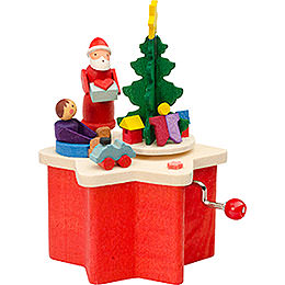Music Box with Crank Santa Claus - 7 cm / 2.8 inch