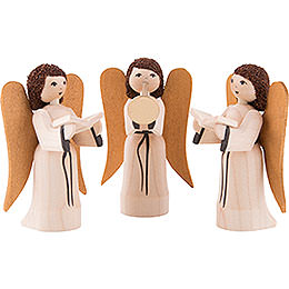 Nativity Angels, Set of Three, Stained - 7 cm / 2.8 inch