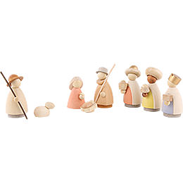 Nativity Set of 8 Pieces Colored - 8,5 cm / 3.3 inch