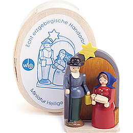 Nativity in Wood Chip Box - 3 cm / 1.2 inch
