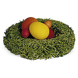 Nest with Easter Eggs - 1 cm / 0.4 inch