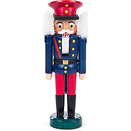 Nutcracker - Eisenbahner Blue-Red - 14 cm / 5.5 inch