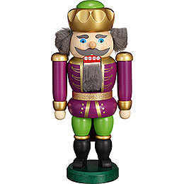 Nutcracker - Exclusive King Purple-Green - 20 cm / 7.9 inch