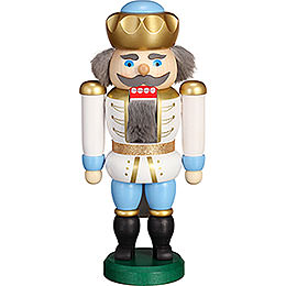 Nutcracker - Exclusive King White-Blue - 20 cm / 7.9 inch