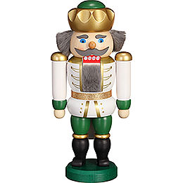 Nutcracker - Exclusive King White-Green - 20 cm / 7.9 inch