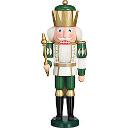 Nutcracker - Exclusive King White-Green - 40 cm / 15.7 inch