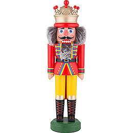 Nutcracker - King with Crown Red-Yellow Matt - 43 cm / 16.9 inch