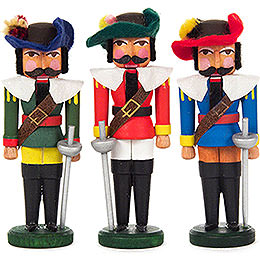 Nutcracker - Musketeers - Set of Three - 7,5 cm / 3 inch