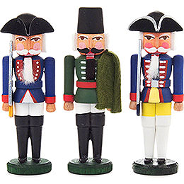 Nutcracker - Prussian Officers - Set of Three - 8 cm / 3.1 inch