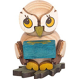 Owl Child with Present - 4 cm / 1.6 inch