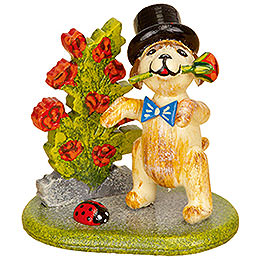 Set of Three- Little Rose Gentleman - 4 cm / 1,5 inch