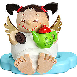 Smoker - Angel with Coffee - Ball Figure - 10 cm / 3.9 inch