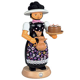 Smoker - Black Forest Lady with Smoking Pot - 25 cm / 10 inch
