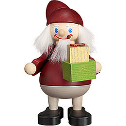 Smoker - Christmas Heinzel with Gift - 15 cm / 5.9 inch