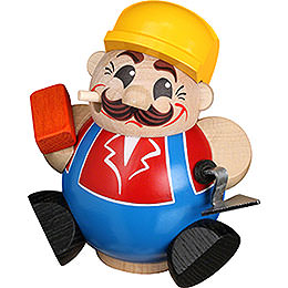 Smoker - Construction Worker - Ball Figure - 11 cm / 4 inch
