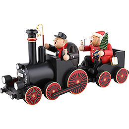 Smoker - Engine Driver with Train - 48,5x21,5x13 cm/19.1x8.5x5.1 inch
