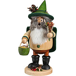 Smoker - Forest Gnome Herb Gatherer Green - 25 cm / 10 inch