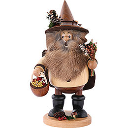 Smoker - Forest Gnome Herb Gatherer Natural - 25 cm / 10 inch