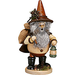 Smoker - Forest Gnome Hiker, Natural - 25 cm / 10 inch