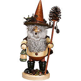 Smoker - Forest Gnome Pine Cone Picker, Natural - 25 cm /10 inch