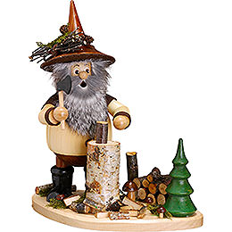 Smoker - Forest Gnome on Board Lumberjack - 26 cm / 10 inch