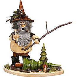 Smoker - Forest Gnome on Board: Lumberman at Work - 26 cm / 10 inch