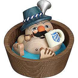 Smoker - Franzl in the Pool - Ball Figure - 10 cm / 3.9 inch
