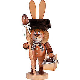 Smoker - Gnome - Bunny with Egg Basket - 36 cm / 14 inch